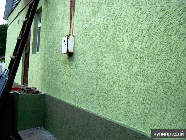 Утеплим и отделаем декоративной штукатуркой цоколь, фасад дома