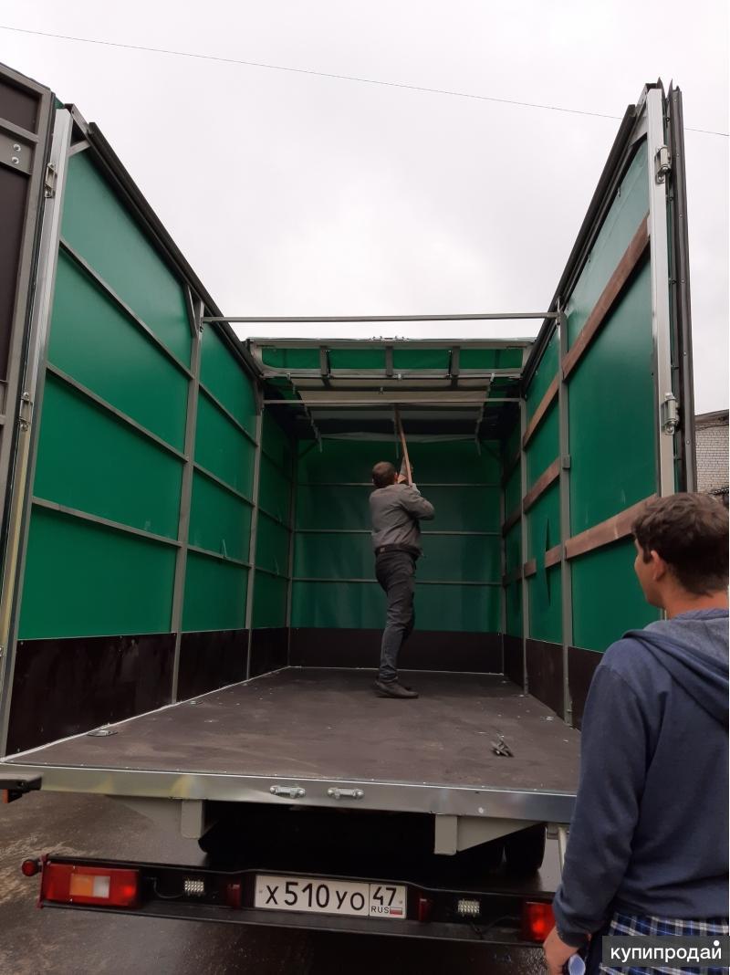 Тентованный фургон с распашными воротами