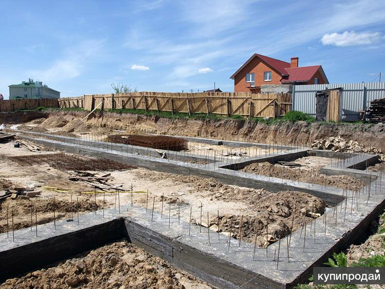 Мелкозаглубленный фундамент на сваях, бетонная лента, ростверк