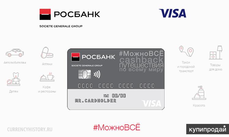 кредитные карты росбанка с льготным периодом
