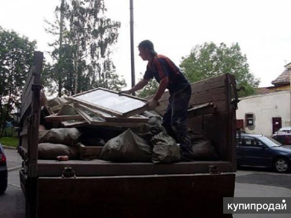 выкинул строительный мусор в контейнер