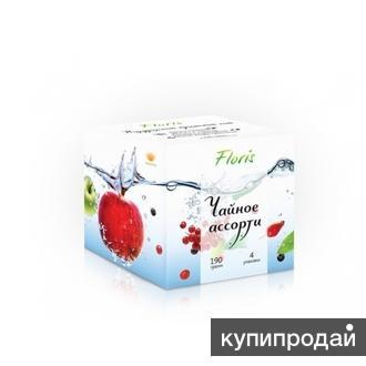 Натуральный Крымский чай «Чайное ассорти». Подарочный кубик 4 вкуса,190гр.