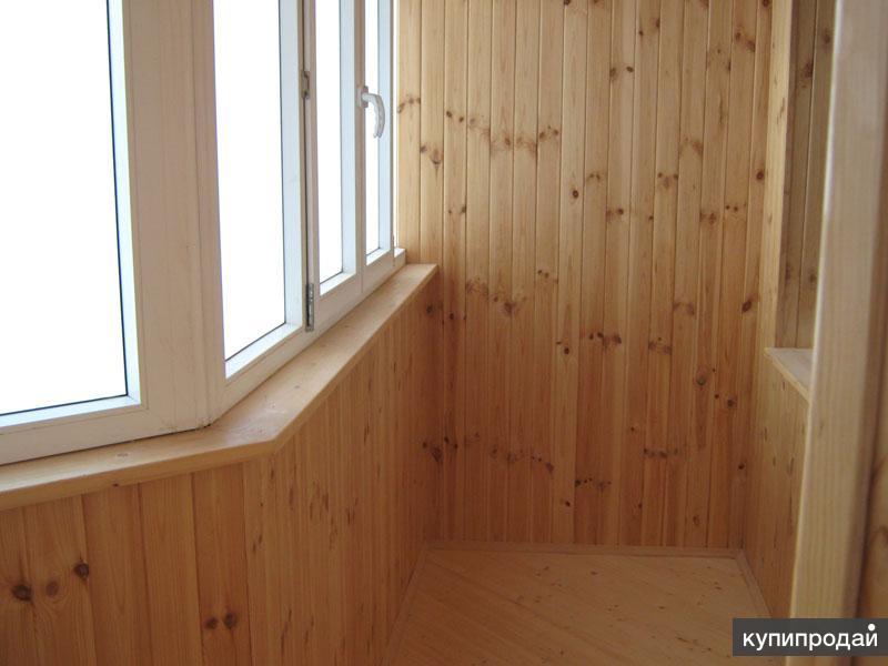 Отделка балконов и лоджий вагонкой на фото и видео.