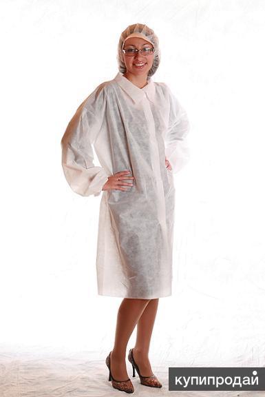 Одноразовые халаты ( спанбонд)