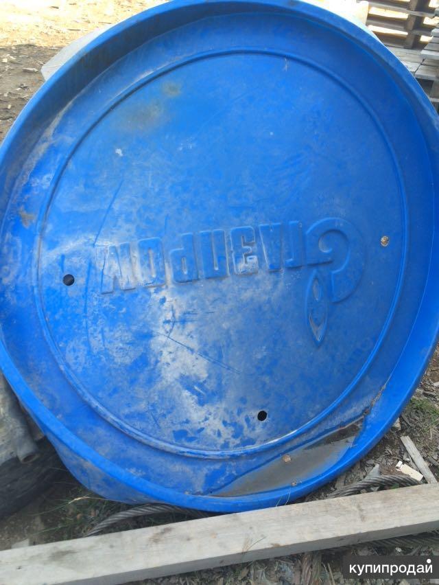 Заглушки синие пластиковые Газпром
