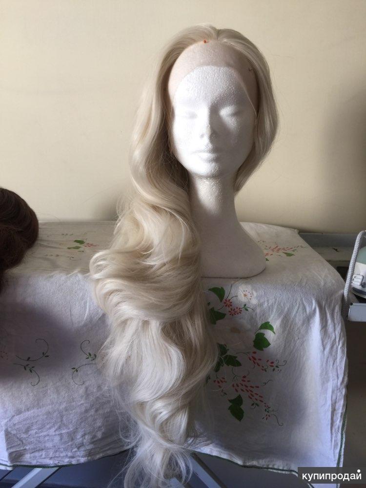 Парик натуральный волос на сетке новый 70 см длинна