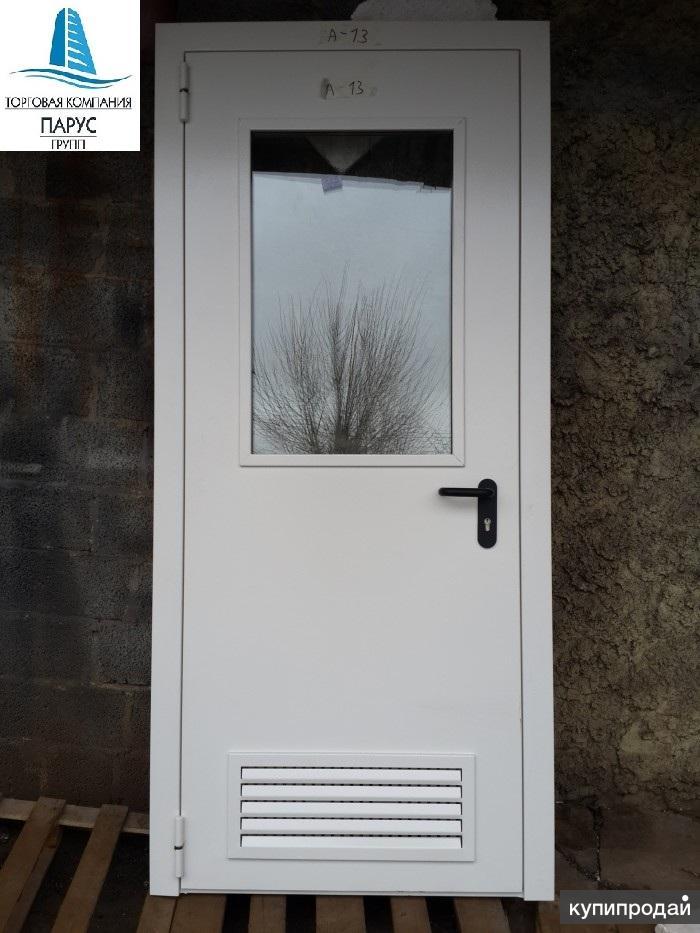 Двери с окном для котельной
