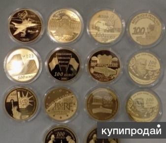 Франция коллекция 5-ти унцевых золотых монет