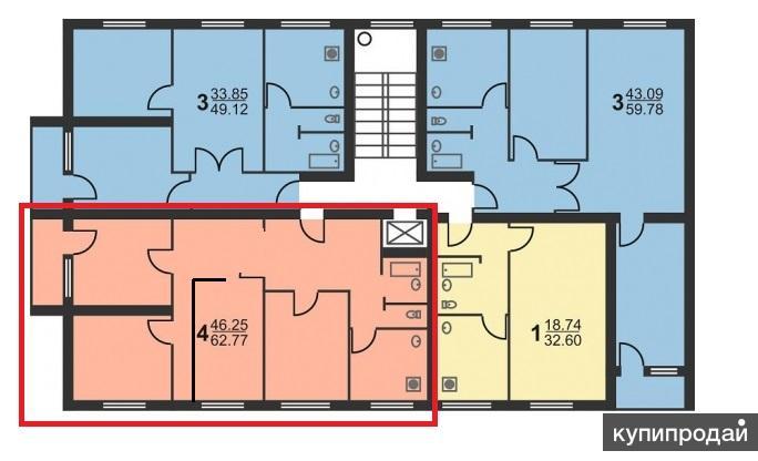 Продается однокомнатная квартира по адресу фестивальная ул. .