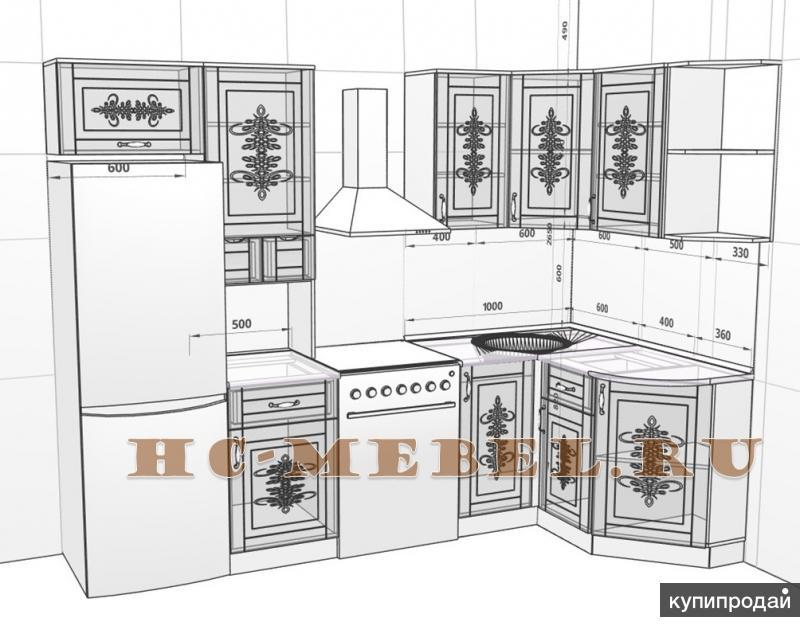 Кухня Беларусь-9.2 угловая модульная, правая-левая