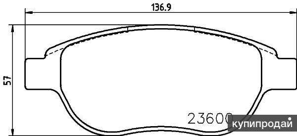 Комплект тормозных колодок, дисковый тормоз Hella Pagid (Хелла Пагид) 8DB 355 02