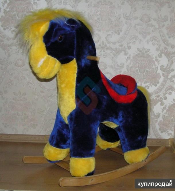 Качалка Лошадка синяя