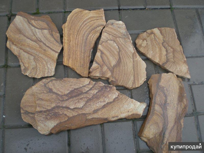 Натуральный камень песчаник Тигровый