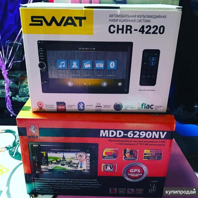 2 Din мультимедиа с навигацией swat CHR-4220