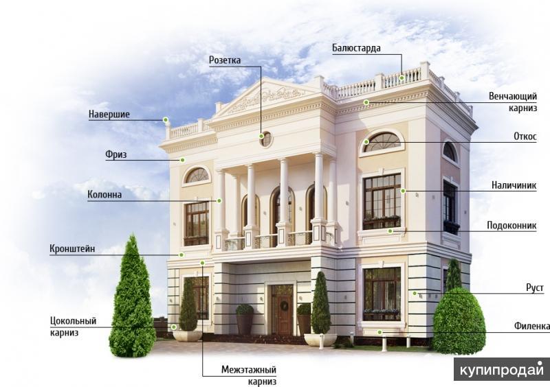 Фасадный Декор От Производителя из Пенополистерола. Звоните!