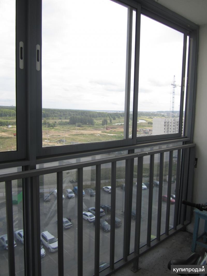 Алюминиевое панорамное остекление балкона Челябинск.