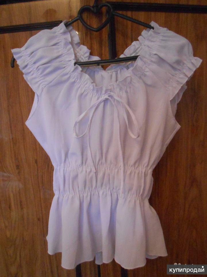 Белая блузка женская