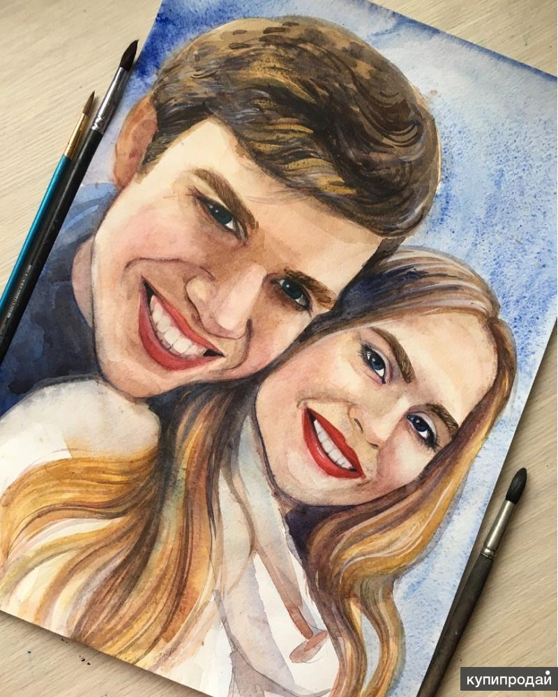Рисую по фото на заказ портреты и не только
