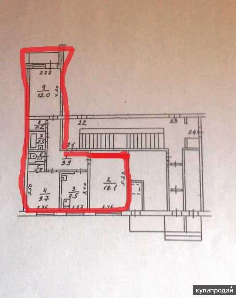 3-к квартира, 62 м2, 1/5 эт.
