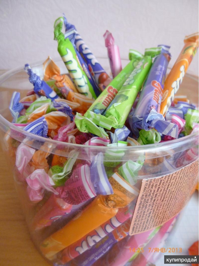 Жевательные конфеты и трубочки от Производителя
