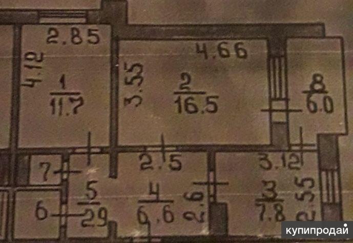 2-к квартира, 49 м2, 9/10 эт.