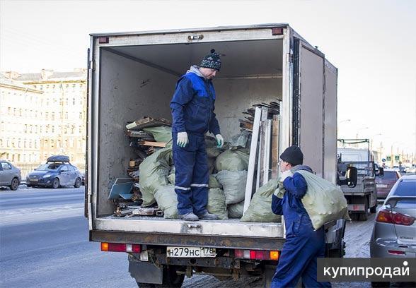 Вывоз мусора на Газеле и Камазе.