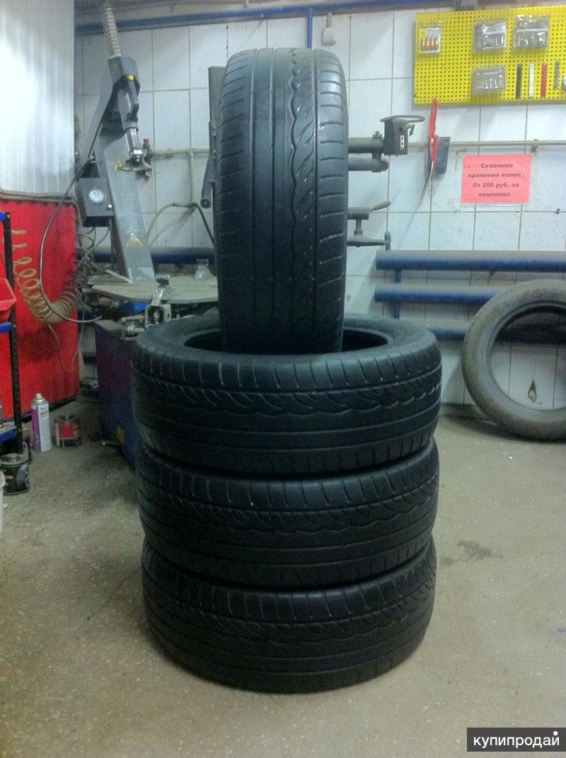 Шины летние Б/У 235/55 R19 Dunlop Sport01