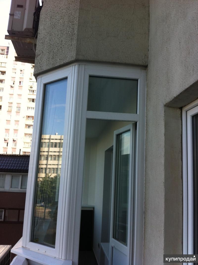 Изготовление и монтаж окон пвх, al, остекление балконов, зим.