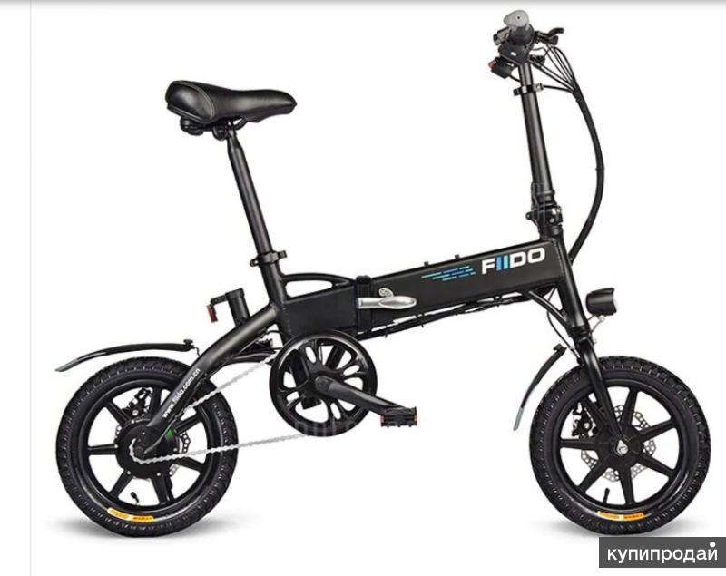 Складной электрический велосипед fiido D1 - Чёрны