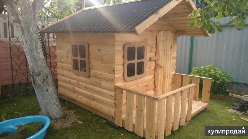 Домик деревянный игровой