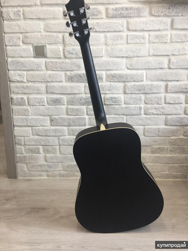 Шестиструнная акустическая гитара Rockdale SDN-BK
