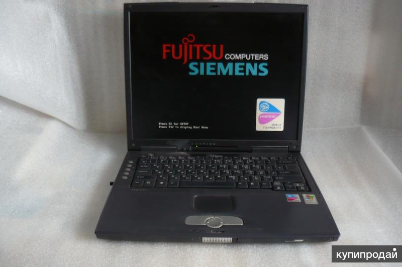 """""""Больной"""" ноутбук """"Fujitsu - Siemens""""."""