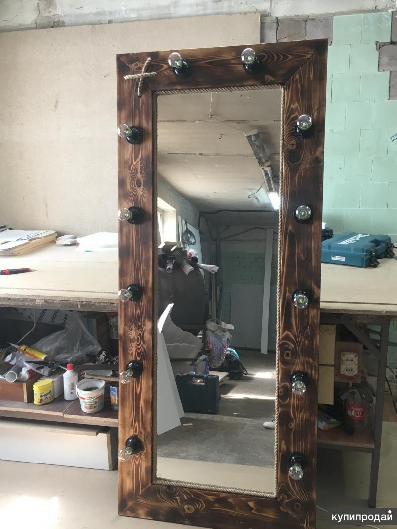 рама со светильниками с зеркалом