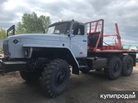 Лесовоз Урал 4320 манипулятор гм роспуск прицеп