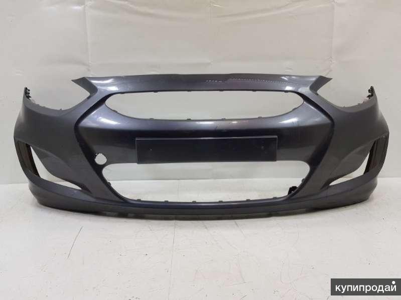 Бампер передний в цвет на Хендай Солярис Hyundai Solaris
