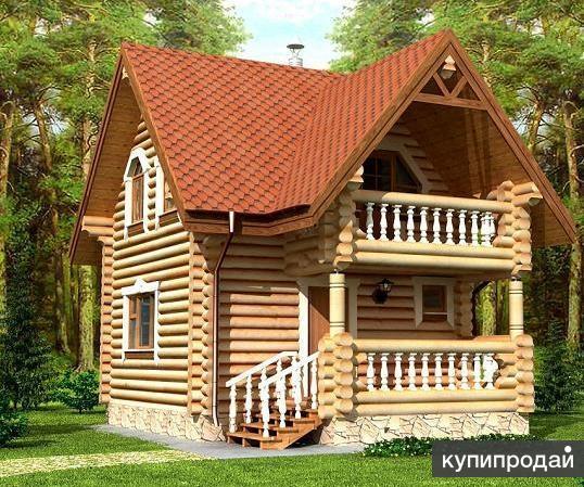 Строительство деревянных домов и бань в Кургане от производителя.