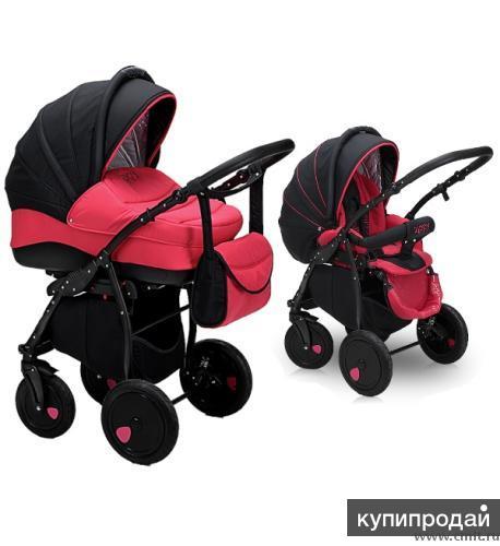 Детская коляска Zippy Tutis 2 в 1 малинового цвета