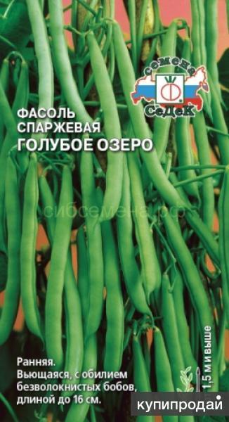 Продам семена ранней сильнорослой Фасоли Голубое Озеро