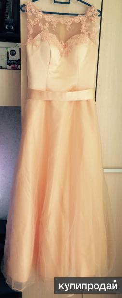 Персиковое платье свадебное выпускное
