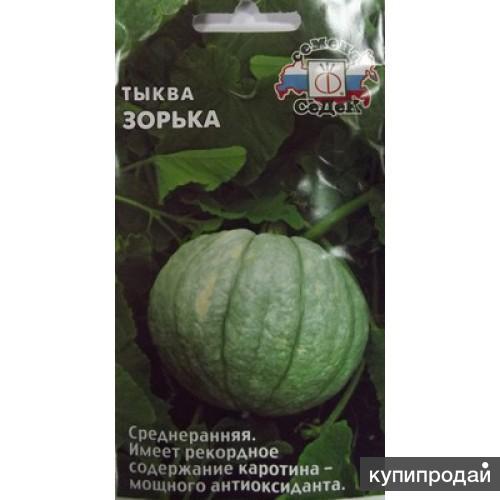 Продам семена Тыквы Зорька с высоким содержанием каротина в им Чудо-сад