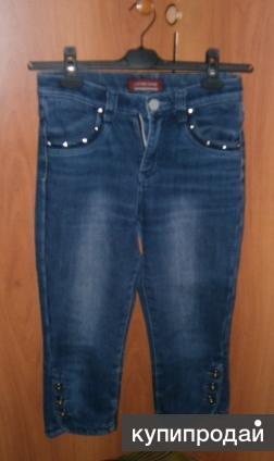 Бриджи джинсовые утепленные