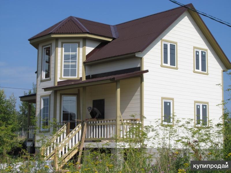 новый дом 130 кв.м. в д.Веськово