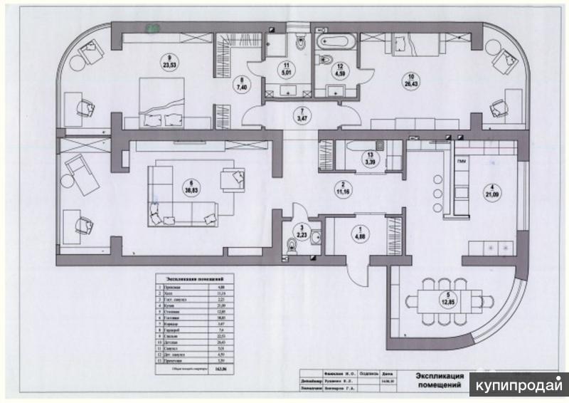 Продаю 4-х комнатную квартиру 164 кв.м. Краснодар
