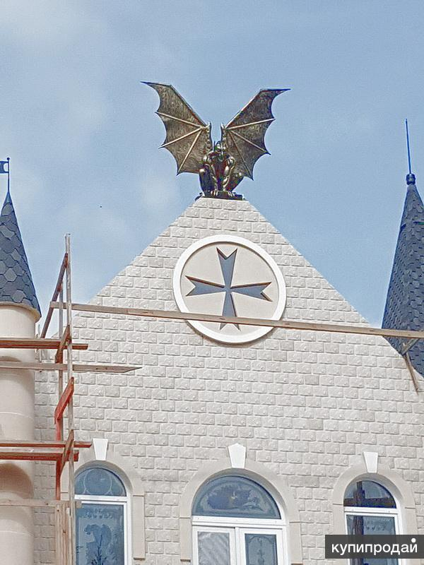 """""""Горгулья на крыше""""-скульптура из металла"""