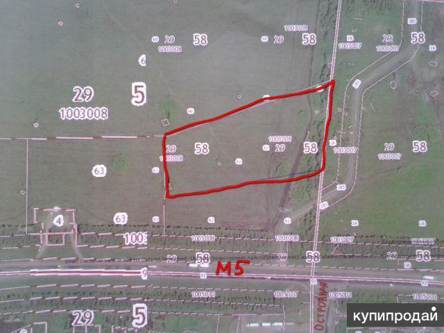 Продам земельный участок на трассе м5. 2 га