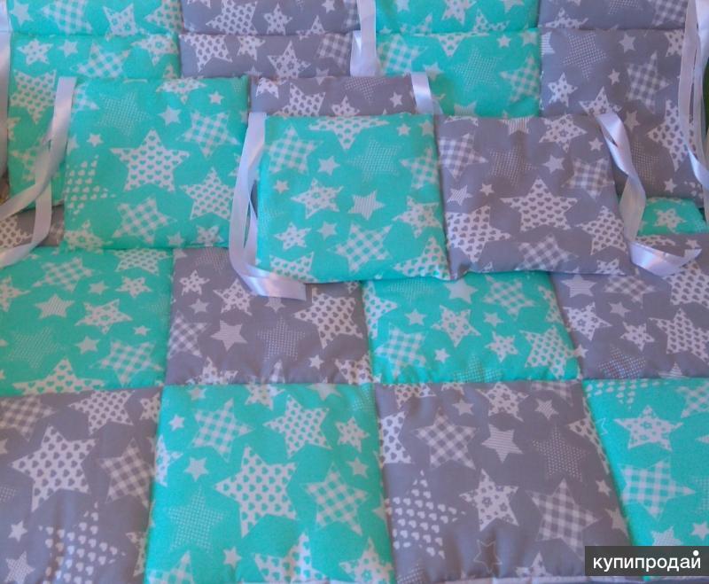 Бортики в кроватку, стёганое одеяло