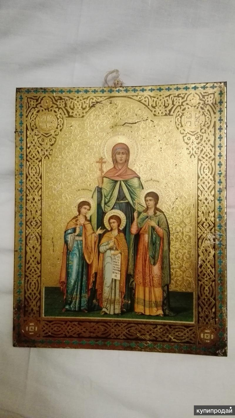 Икона. Вера, Надежда, Любовь и матерь их София. 1898 год