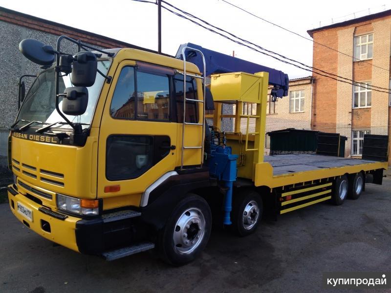 Эвакуатор Манипулятор Низкорамный Nissan Diesel 15 тонн со Сдвижной Платформой