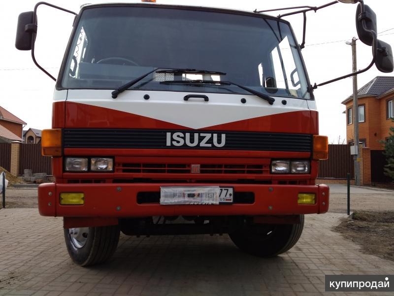Японский Эвакуатор Isuzu Forward для Перевозки Спецтехники до 10 тонн