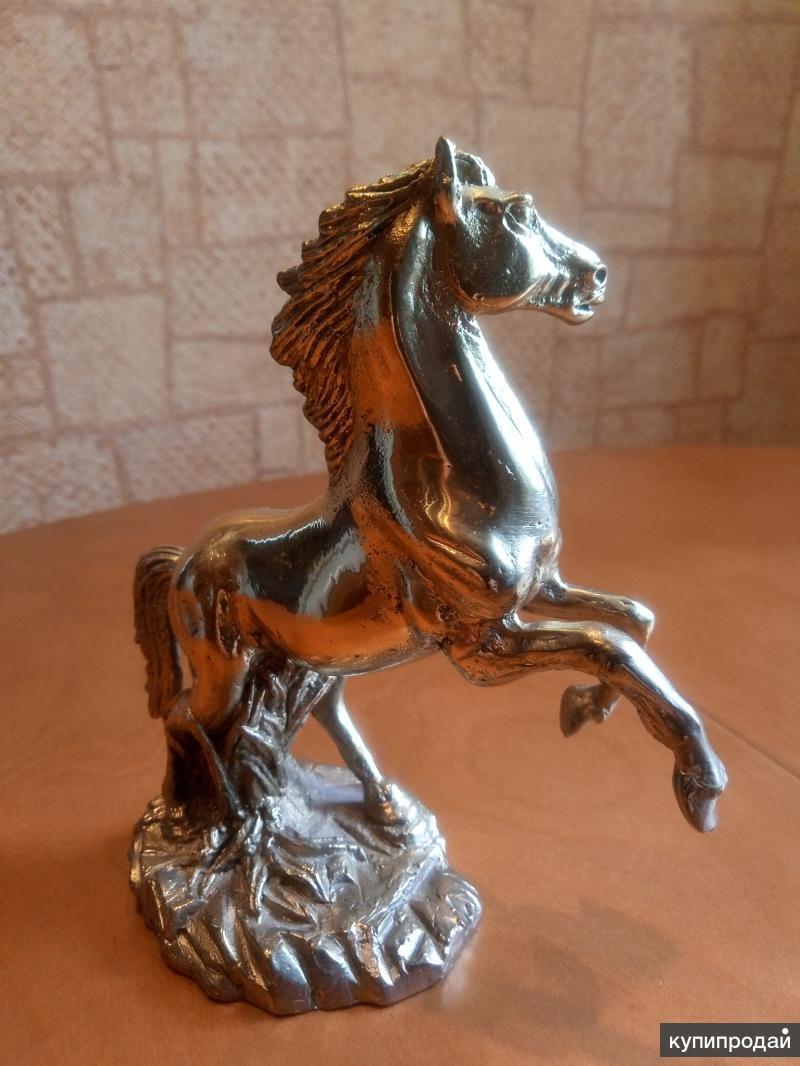 Статуэтка конь, латунь